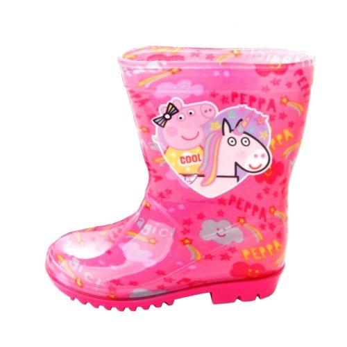 Peppa Pig Wellies - Girls Pink Unicorn Welly Boots