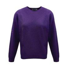 ProQuip Golf Julia Ladies Lambswool Sweater Crew Neck Jumper Purple X-Large