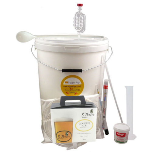 Starter Beer Making Set - St Peters Golden Ale 36 Pint Size with Equipment
