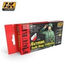 Ak03140 - Ak Interactive Set German Field Grey Uniforms