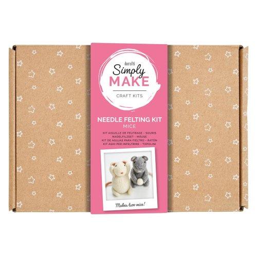 Simply Make Needle Felting Kit - Mice