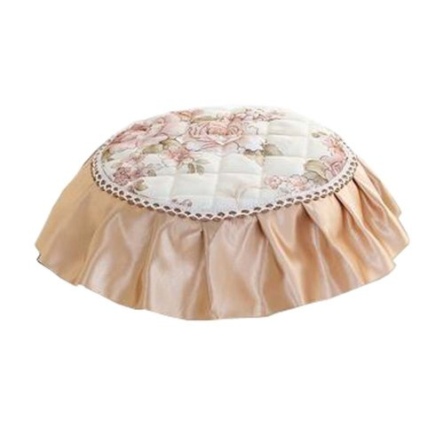 Creative Round Stool Cushion Four Seasons Upholstery Stools Pad Light Yellow