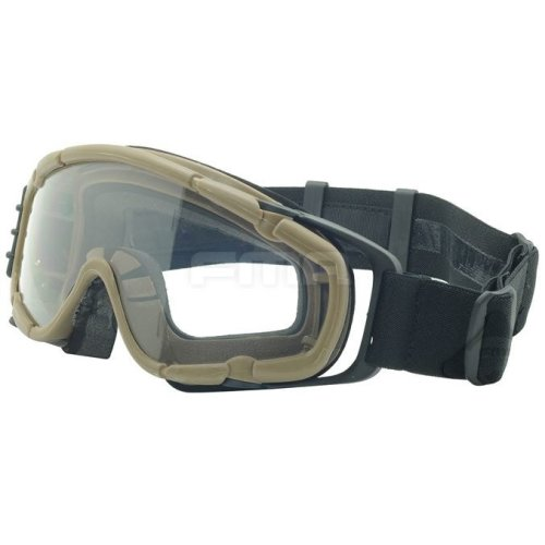 Airsoft Paintball Ops Core Jump Fan Anti Fog Clear Si Goggles Glasses Tan Sand De
