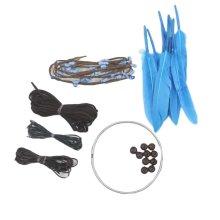 DIY Dream Catcher Craft Kit Handmade  Home Decoration -Blue