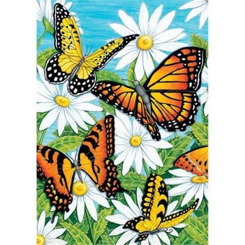 Monarchs & Daisies Double Sided House Flag