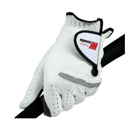 Comfortable Non-slip Men's Golf Gloves Synthetic Leather WHITE Left Hand 26#