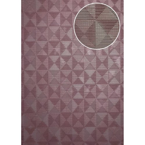 ATLAS XPL-592-5 Graphic wallpaper shimmering violet pastel violet 5.33 sqm