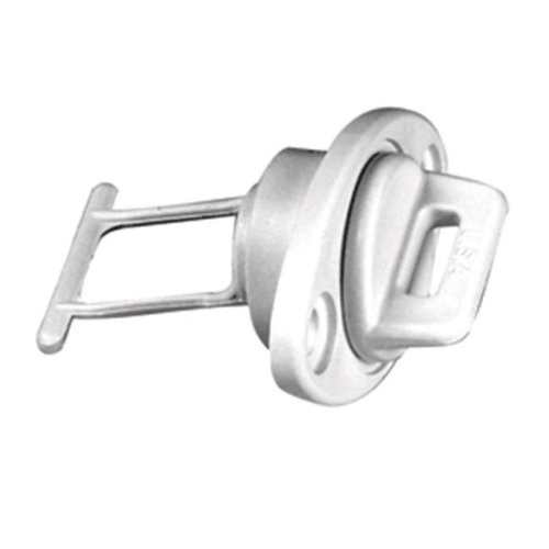 Drain Plug Screw Type with Gasket, White - 1 in.
