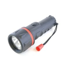 Lloytron D2222 Large Black Rubber Long Life LED Torch With Carry Strap