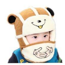 Winter Baby Kids Warm Earmuffs Hats Comfortable Cotton Inner Caps Best Gift-Deep Red