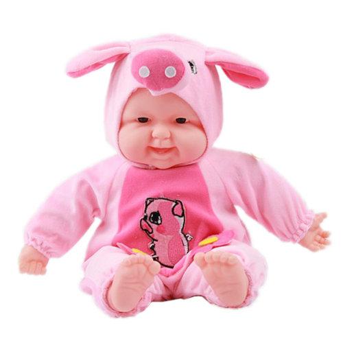 Lifelike Realistic Baby Doll/ Zodiac Doll/ Soft Body Play Doll, Pig Baby Doll