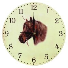 Obique Home Decoration MDF Pony Head Scene Wall Clock 28cm