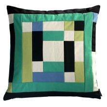 Green Stripes Decorative Pillow Case Simple Design Throw Pillow Cover