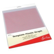Sew Easy Template Plastic with grid. 2 Sheets each 280 x 215mm