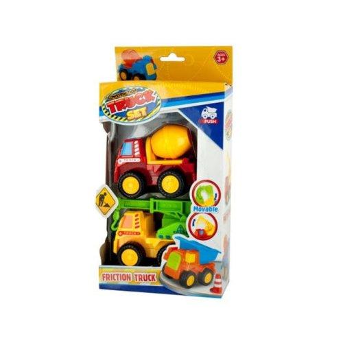 Kole Imports OL923-8 Mini Construction Friction Truck Set, 2 Piece - Pack of 8