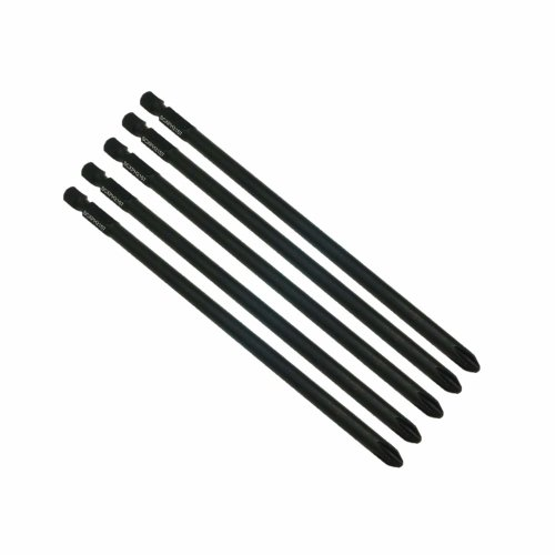 5 x SabreCut SCXPH2157_5 157mm PH2 Autofeed Collated Drywall Screwdriver  Gun Bit Single Ended Philips No 2 Heavy Duty for SENCO DuraSpin EAP27530