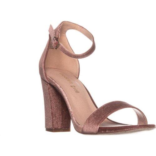 madden girl Beella Ankle Strap Dress Sandals, Blush, 5.5 UK