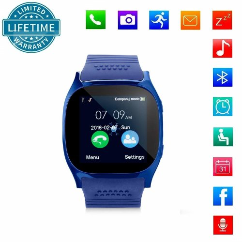 c977a26d40c268 Smart Watch Bluetooth Wristwatch With SIM Card Slot, KeepGoo Touch Screen Smartwatch  IOS Android Phone, Sports Sleep Monitor Activity Fitness... on OnBuy