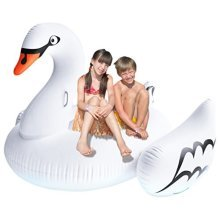 Greenco Giant Inflatable Swan Pool Float Lounger, 75""
