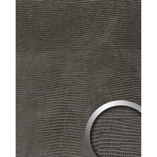 WallFace 14797 LEGUAN Wall panel leather decor self-adhesive black | 2.60 sqm