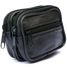 Mens REAL Leather Belt Wallet Purse Pouch Bum Bag Loop Card Holder