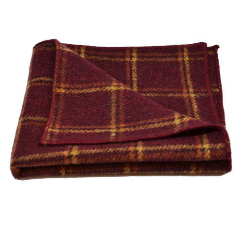 777c84e18cac Heritage Warm Red Check Pocket Square, Handkerchief on OnBuy