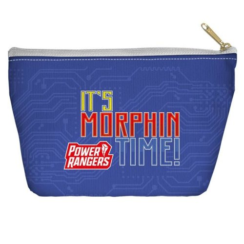 Trevco Sportswear PWR2416-PCH2-8.5x6 Power Rangers & Its Morphin Time Accessory Pouch, White - 8.5 x 6 in.