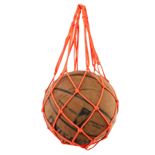 Outdoor Gym Football Pocket Orange Volleyball Net Mesh Bag