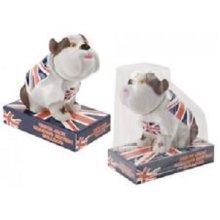 Nodding Head Bulldog With England Flag Printed Base - Car British Football -  car nodding head british bulldog england flag football