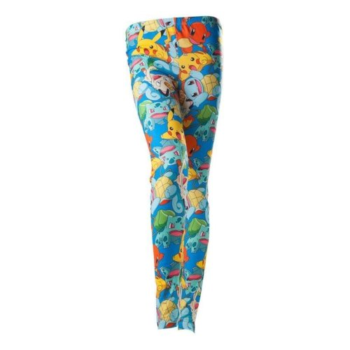 Pokemon Leggings with Pikachu Squirtle Charmander Bulbasaur Multi colour M
