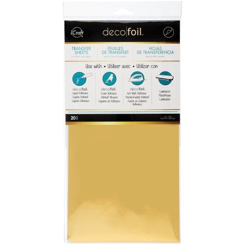 """Deco Foil Transfer Sheets 6""""X12"""" 20/Pkg-Gold"""