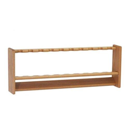 Wooden Mallet PRF10LO Fishing 10 Rod Rack - Light Oak