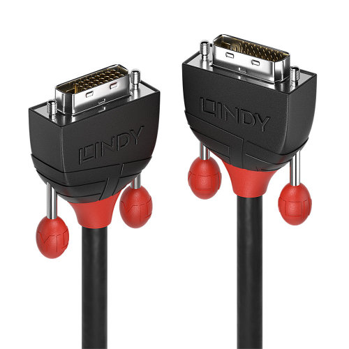 Lindy 36253 DVI cable 3 m DVI-D Black