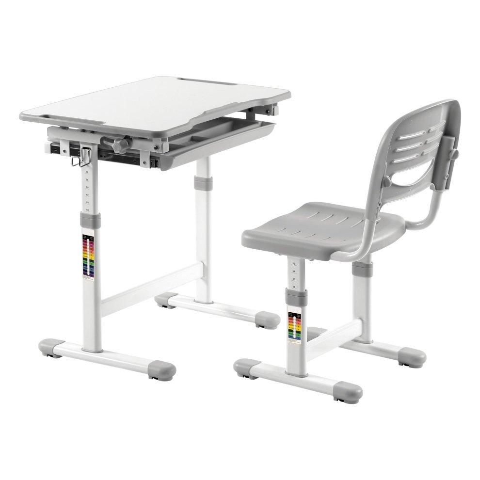 Ergonomic Kids Desk Chair Height Adjule Children Table Mini Grey 5