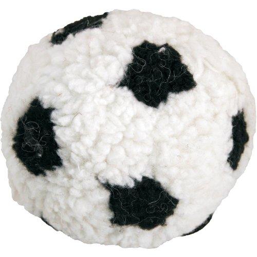 James & Steel Berber Soft Dog Ball | Plush Football Dog Toy