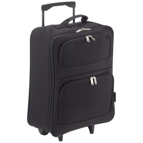 5 Cities Foldaway Lightweight Hand Luggage Suitcase, 55 cm, 39 Liters, Black