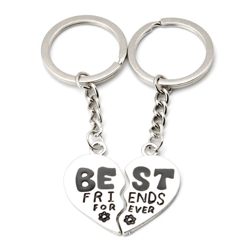 TRIXES Best Friends Forever Heart Keyring Halves