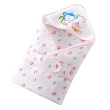 Lovely Monkey Baby Receiving Blankets Summer Hooded Swaddleme, Pink
