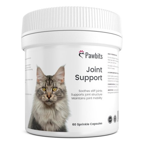 Pawbits 60 Active Joint Support for Cats Tablets for Stiff & Mature Adult Cats Osteoarthritis (OA) Anti-Inflammatory Relief, Green Lipped Mussel...