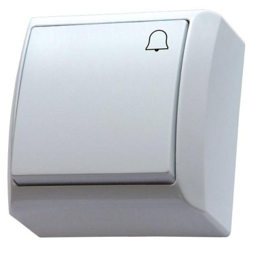 Surface Wall Mounted Button Reactive Push Release Door Bell Switch Plate