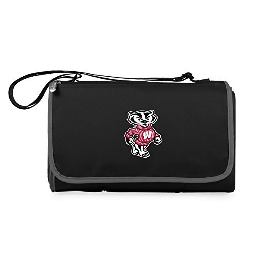 NCAA Wisconsin Badgers Outdoor Picnic Blanket Tote, Black