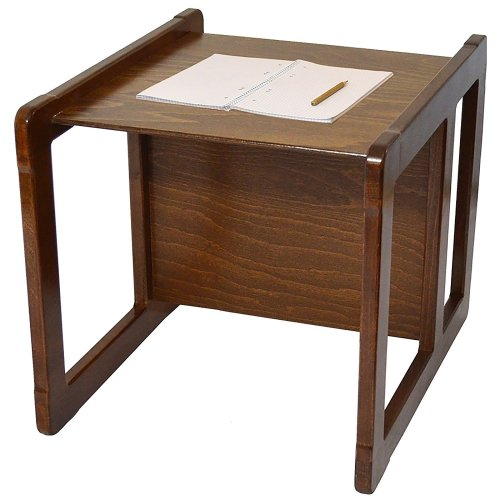 Obique Multifunctional Furniture 1 Table Beech Wood, Dark