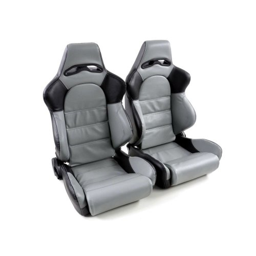 Sportseat Set Edition 1 artificial leather grey/black