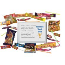 World's Best Dad Sweet Box - Great present for Birthday, Christmas or just because ...