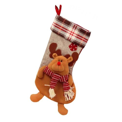 Lovely Beautiful Children's Christmas Stocking Gift Bag- Cartoon Animal Style
