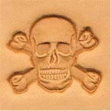 Skull & Crossbone 3d Leather Stamping Tool
