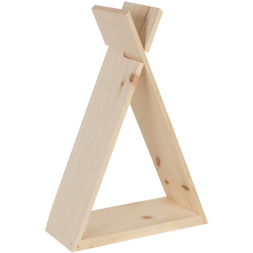 "Pine Teepee Shelf-9.54""X13.86""X4"""