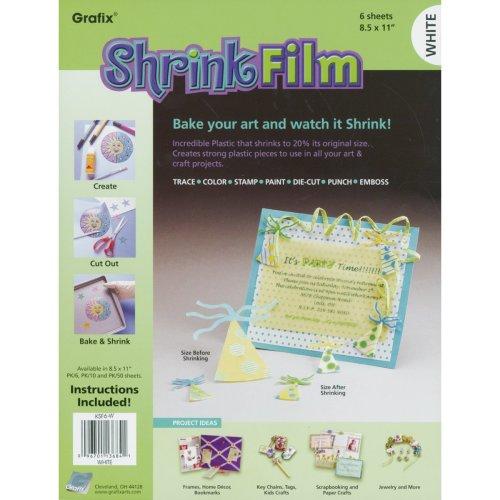 """Grafix Shrink Film 8.5""""X11"""" 6/Pkg-White"""