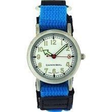 Cannibal Active Boys Aqua Blue & Black Velcro Strap Children's Watch CK002-05