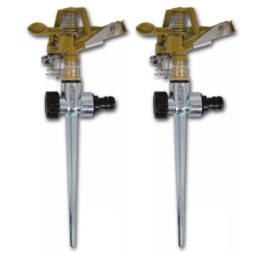 Impulse Sprinkler Garden Watering Metal Spike 2 pcs Adjustable Water Spray